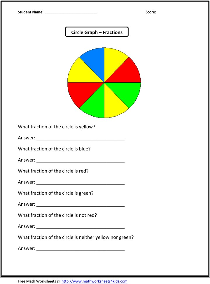3rd Grade Math Worksheets Fractions. Printable Ccma Practice Test 2015 ...