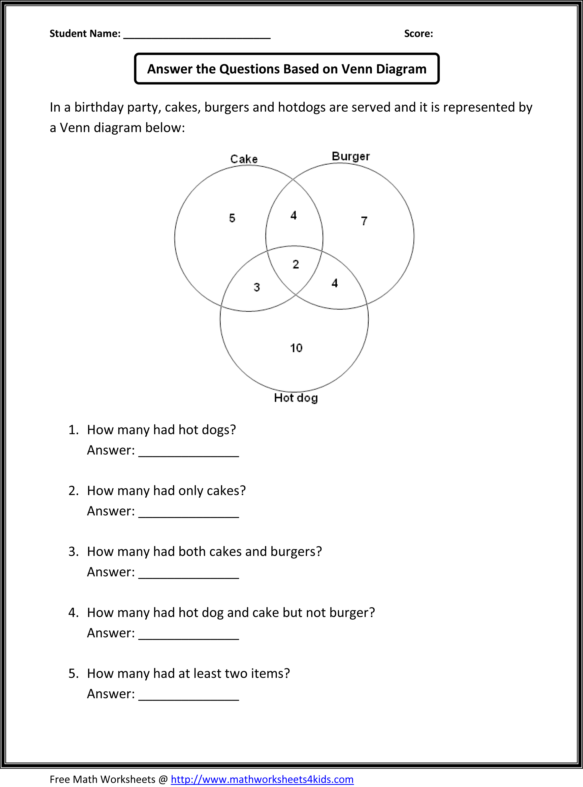 worksheet Probability And Odds Worksheet probability problems worksheet 5th grade math multiplication fifth venn diagram free worksheets library word worksheethtml