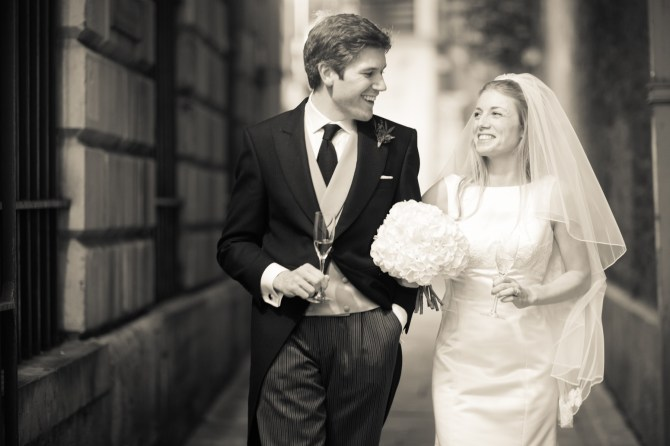 A Wedding in St Mary Le Bow, London - Bride and Groom - Mat Smith