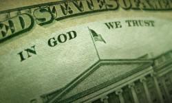 American Dollar In God We Trust Inscription