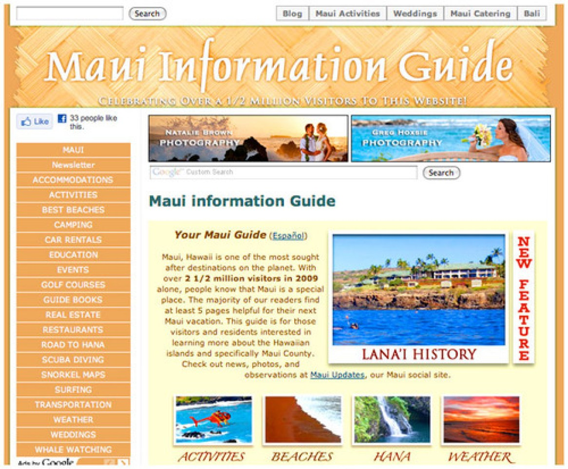 500 000 happy visitors to our maui guide maui bloggers zone. Black Bedroom Furniture Sets. Home Design Ideas
