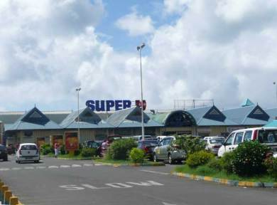 Shopping at Super U hypermarket