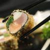 Hot Roll mix de salmão, atum, cream cheese e espinafre Livro Caras Sonho Oriental Sushiman Adiano Kanashiro