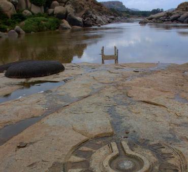 Hampi river ruins
