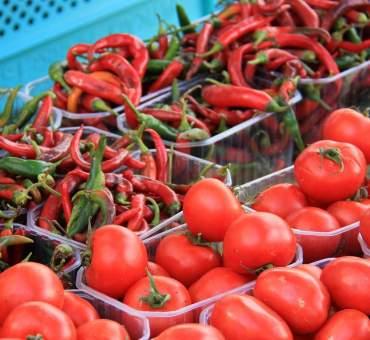 Visiting the Agora Market in Crete