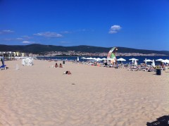 A final view of Sunny Beach, Bulgaria