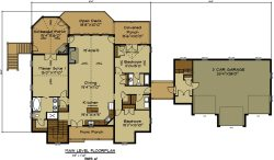 Small Of 3 Car Garage Plans