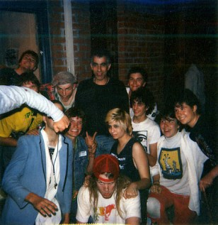 Tim with Gilman punx 1987