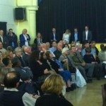 Livingstone addresses as audience in Tooting.