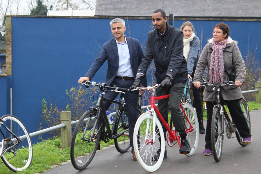 Sadiq pledges to boost TfL's spending on cycle safety and superhighways