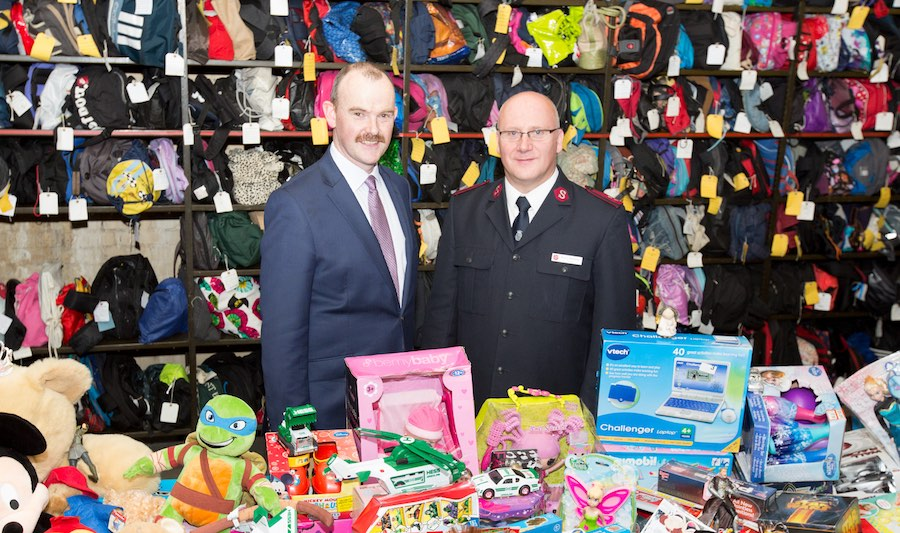Paul Cowan from the TfL Lost Property Office and Kevin Stanbury from the Salvation Army