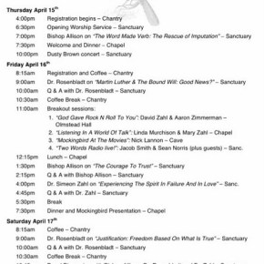 Final Conference Schedule