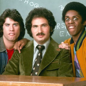 "WELCOME BACK, KOTTER - ""Gallery"" - Shoot date July 1, 1975. (Photo by ABC Photo Archives/ABC via Getty Images) RON PALILLO;JOHN TRAVOLTA;GABE KAPLAN;LAWRENCE HILTON-JACOBS;ROBERT HEGYES"
