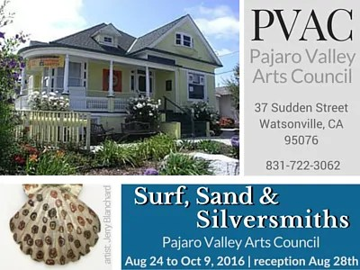CALL FOR ARTISTS: Surf, Sand & Silversmiths at PVAC – Aug to Oct 2016