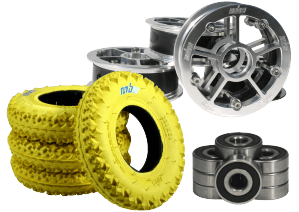 MBS Mountainboard tyres hubs tubes and bearings