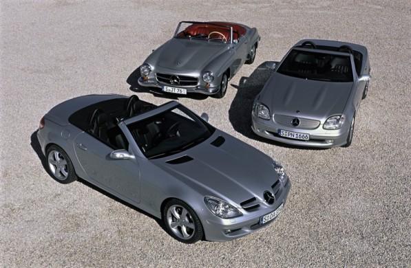 55slk 597x390 Mercedes Benz Open Air Motoring Celebrates 55 Years