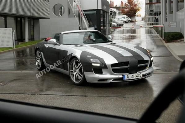 Mercedes Benz 26101010541517831600x1060 597x395 Spy Photo: Mercedes Benz SLS Roadster