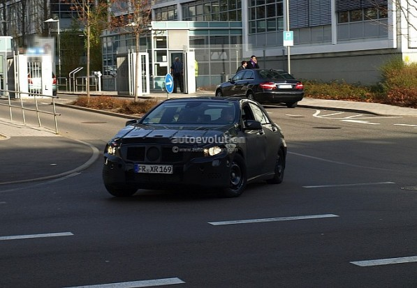 The Mercedes Benz A25 AMG Spied 597x413 The Mercedes Benz A25 AMG Spied