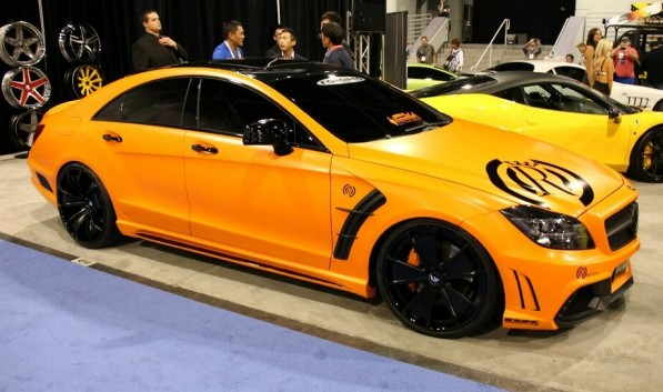 image00001 597x353 Wald Shows Up At SEMA With An Orange CLS