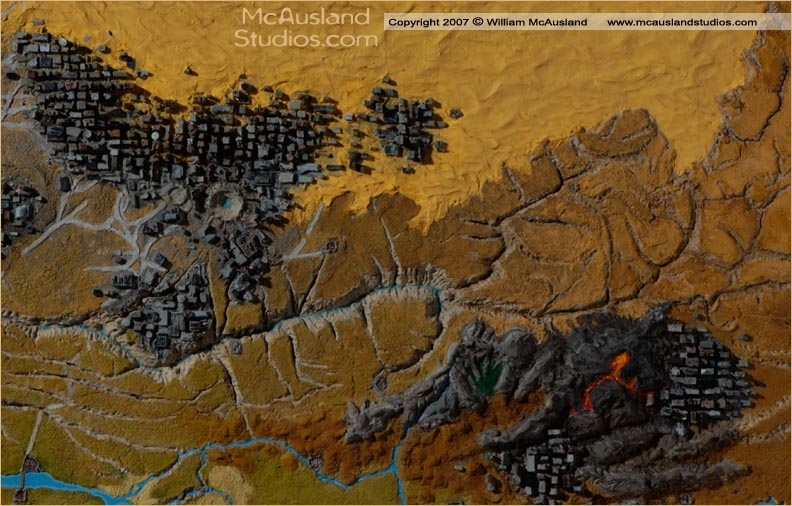 Canyon and Ruins Detail 3d map by William McAusland RPG Art     Canyon and Ruins Detail 3d map by William McAusland RPG Art  Bookcovers   Concept Art  ink  warriors  wizards  dungeon portals and more