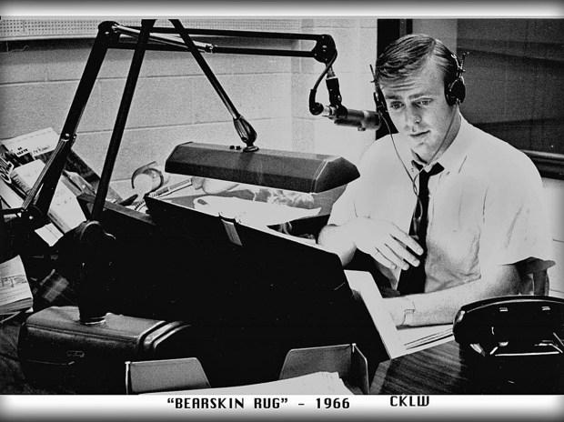 CKLW Bearskin Rug with Tom Shannon 1966 (MCRFB)