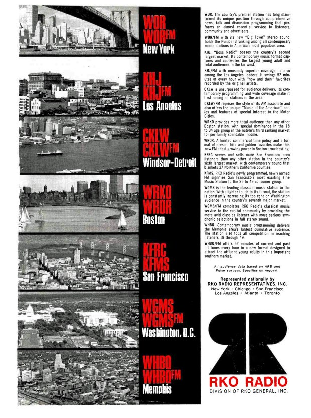 A 'BROADCASTING' CKLW-RKO AD PAGE RIP: January 6, 1969 (click image 2x for largest view)