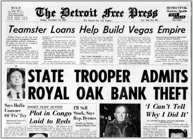 DETROIT FREE PRESS Morning Edition Friday, November 22, 1963