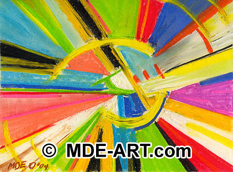 Abstraction Expressionist Pastel Art