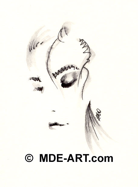 Abstract drawing of a Woman
