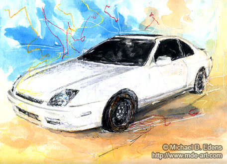 Honda Prelude Drawing / Painting
