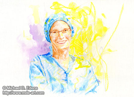 Portrait of an Anesthesiologist, Drawing and Painting