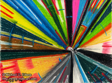 "Abstract Art, ""Joy"" created with colorful pastels by Michael D. Edens"