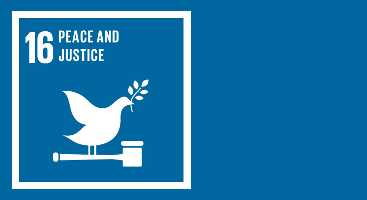 SDG 16 - Promote Peace, Justice and Inclusive Societies