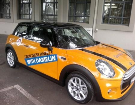 Mini Cooper branding