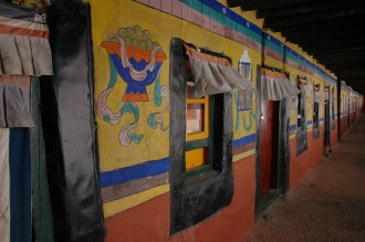 Colorful monk quarters