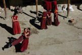 Monks having fun