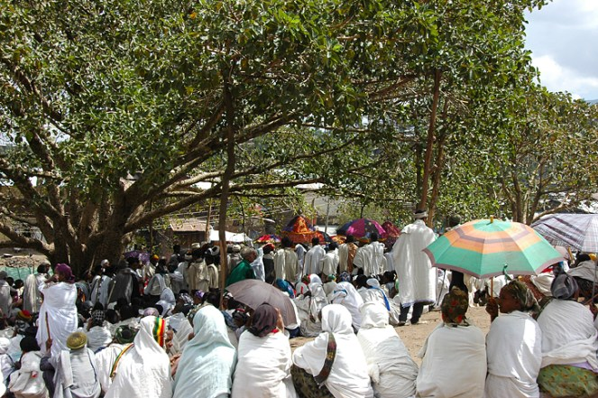 Funeral gathering