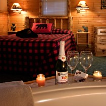 Hot Springs Deluxe Cabin at Meadowbrook Resort & DellsPackages.com in Wisconsin Dells