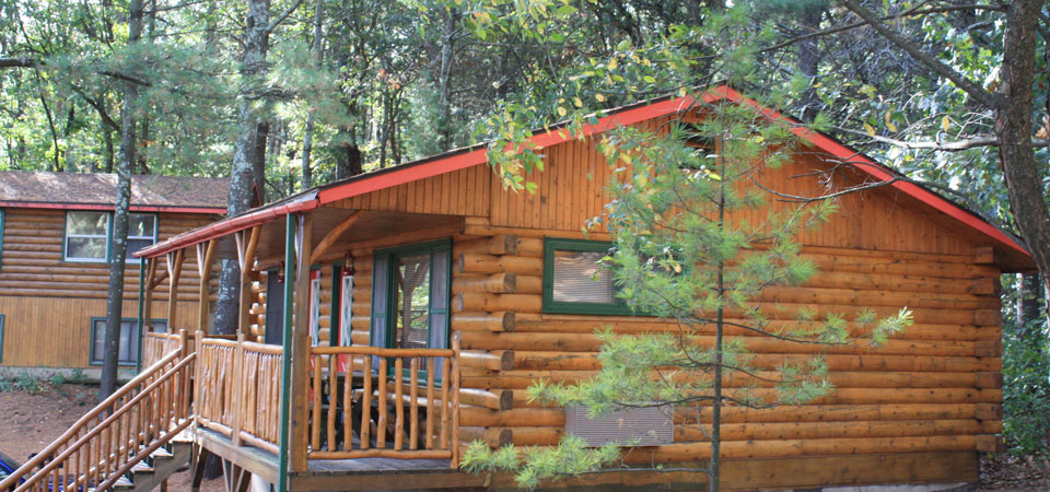 The Acorn & Pine Cone Cabins at Meadowbrook Resort & DellsPackages.com in Wisconsin Dells