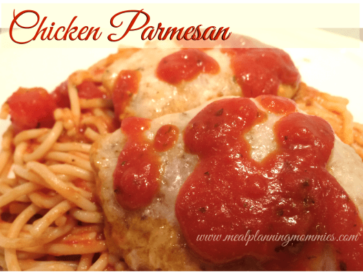 Chicken Parmesan Meal Planning Mommies