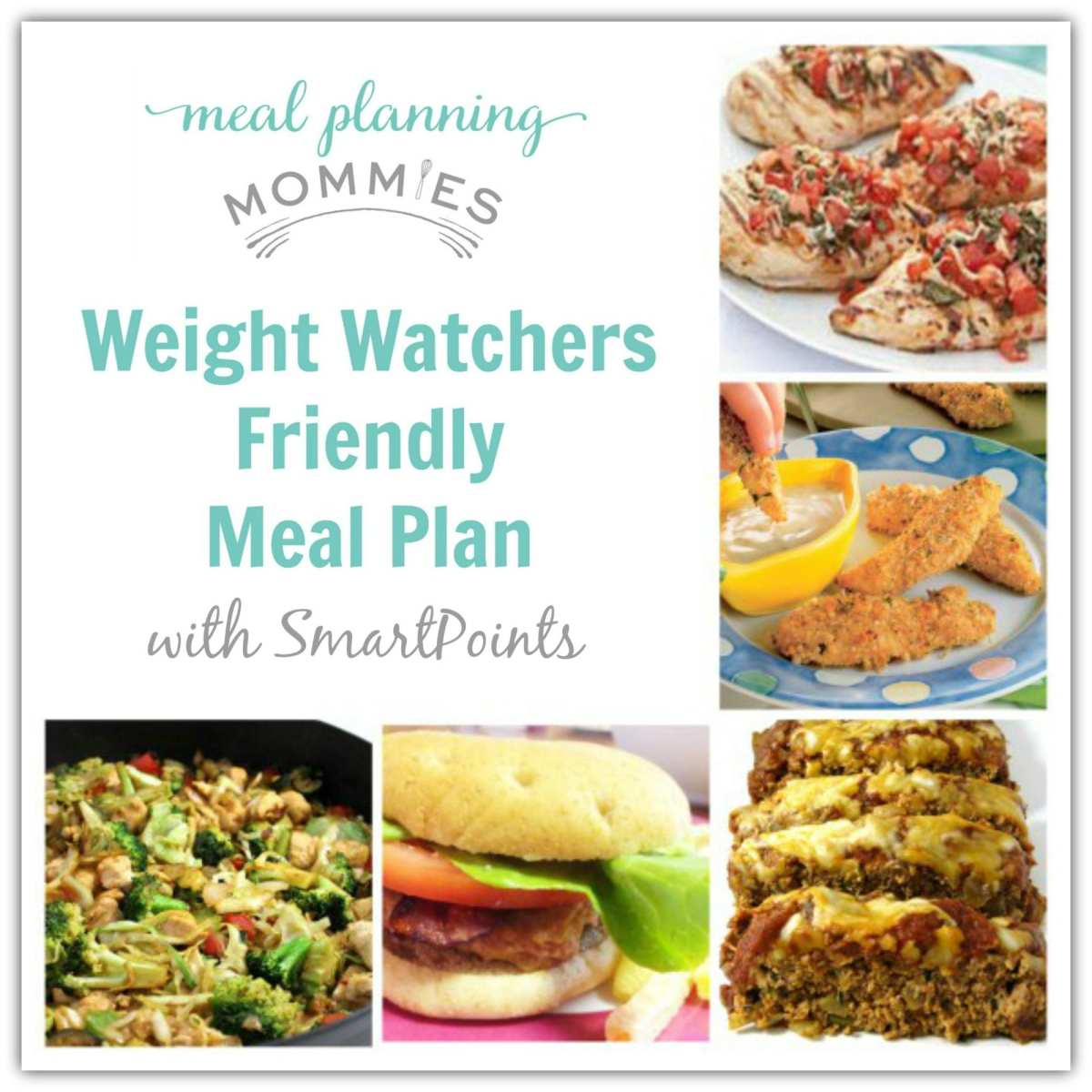 Weight Watcher Friendly Meal Plan with Smart Points #1