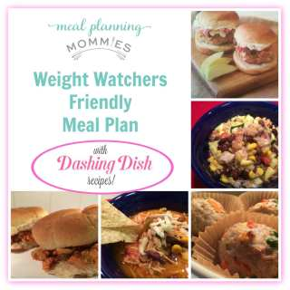 Weight Watcher Friendly Meal Plan with Dashing Dish recipes- Meal Planning Mommies