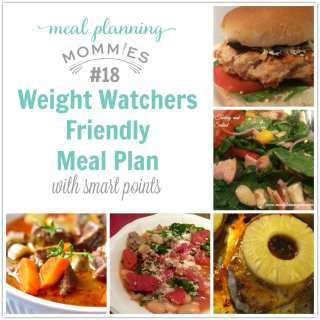 Weight Watcher meal plan #18 on Meal Planning Mommies