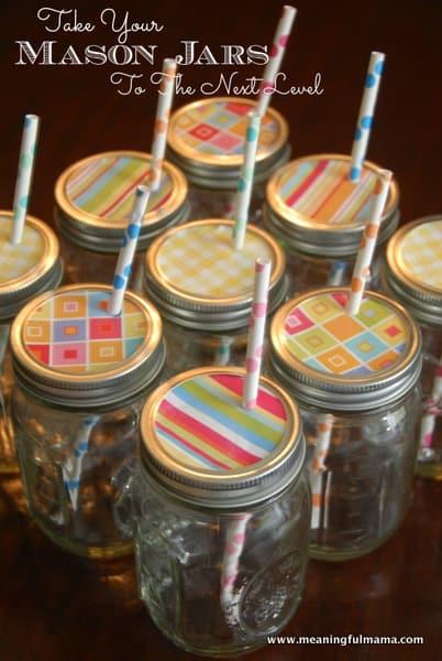 1-#mason jars #party #decoration