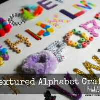 Textured Alphabet Craft