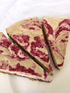 Lemon Cream Tart with Raspberry Sauce