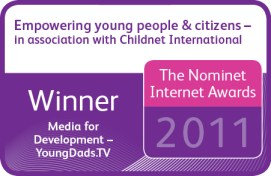 Nominet Internet Awards - Winner - Young Dads TV