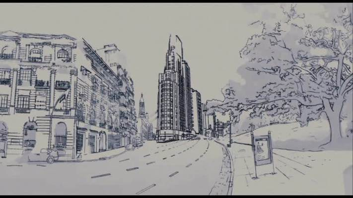 Architects' sketches from Medianeras (Taretto, 2011)
