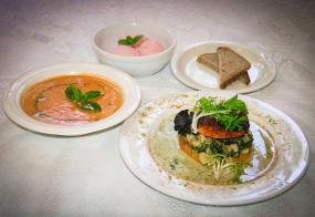 Fresh, organic vegetarian and delicious meals created by our chefs.