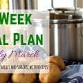 2 Week Frugal Meal Plan for Early March